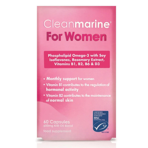Cleanmarine Krill Oil for Women - 60 capsules