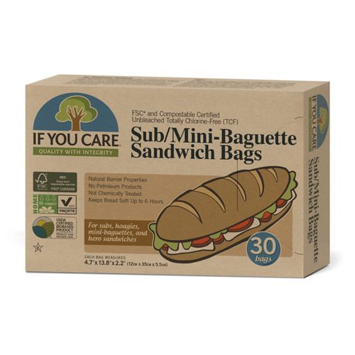 If You Care Sub & Baguette Sandwich Bags - 30 bags