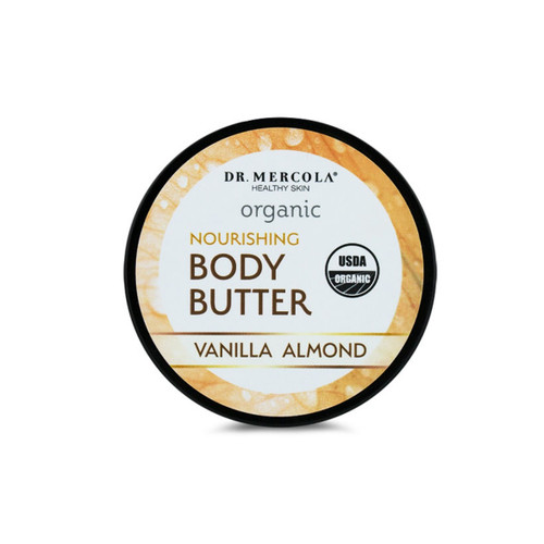 Dr Mercola Healthy Skin Organic Body Butter (Vanilla Almond) - 113g