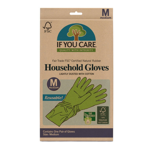 If You Care Medium Latex Household Gloves - 1 Pair