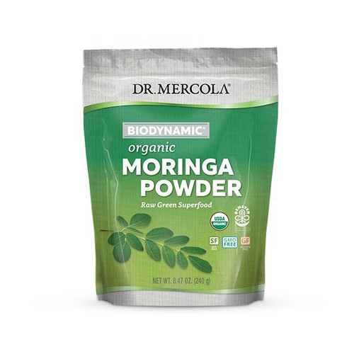 Dr Mercola Organic Biodynamic  Moringa Powder - 240g