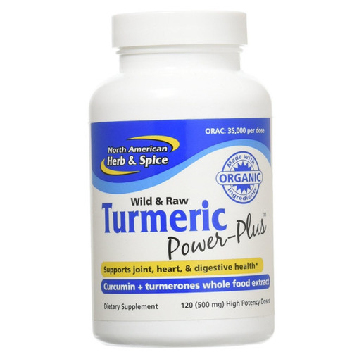 North American Herb & Spice Turmeric Power Plus -  120 softgel capsules
