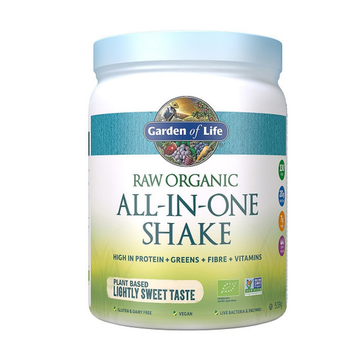 Garden of Life Organic All in One Shake Lightly Sweet - 519g