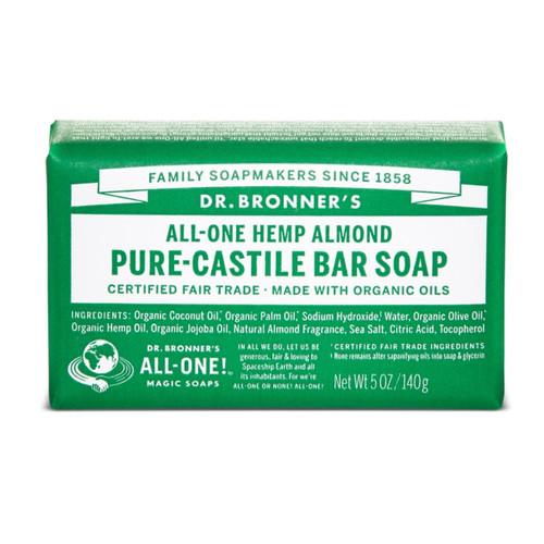 Dr Bronner's Almond Organic Soap Bar - 140g