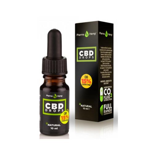 Pharma Hemp Drops  15% (1500mg) Olive Oil - 10ml - Food Supplement