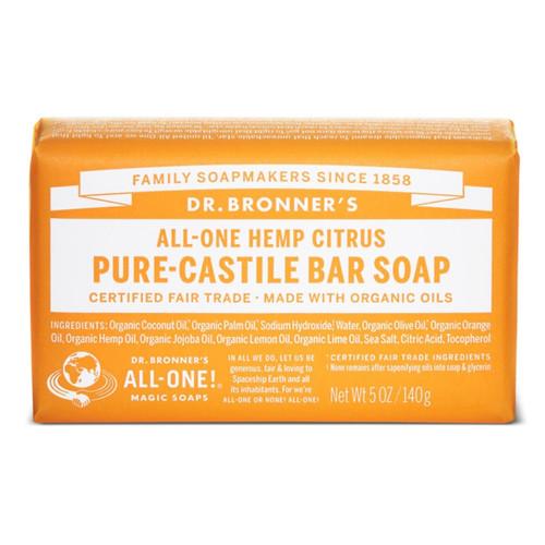 Dr Bronner's Citrus Orange Organic Soap Bar - 140g