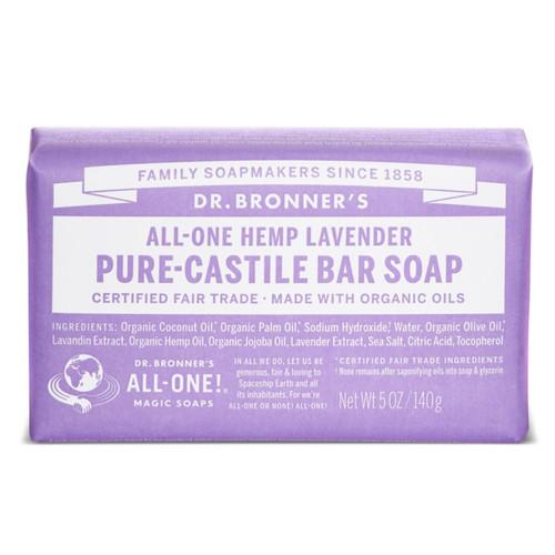 Dr Bronner's Lavender Organic Soap Bar - 140g