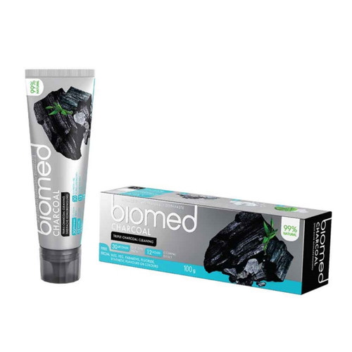 Biomed Charcoal Triple Whitening Toothpaste - 100g
