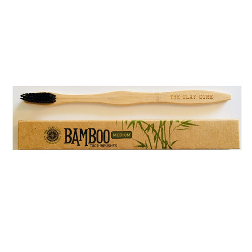 The Clay Cure Company Eco Bamboo Toothbrush - single