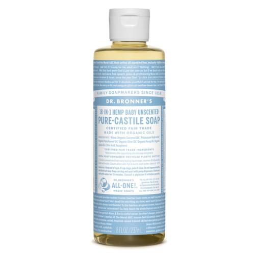 Dr Bronner's Organic Baby Mild Liquid Soap - 237ml
