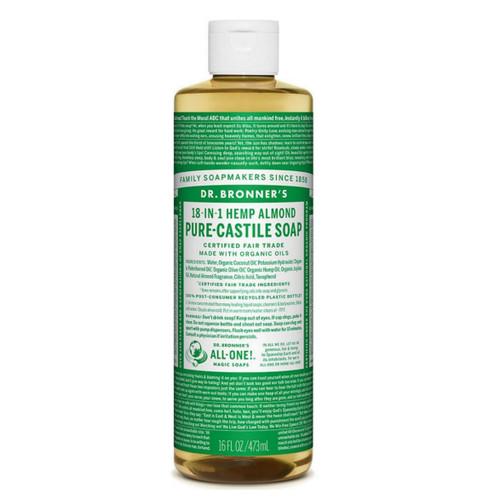 Dr Bronner's Organic Almond Liquid Soap - 473ml