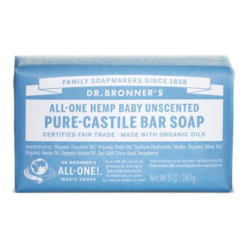 Dr Bronner's Baby Mild Organic Soap Bar - 140g