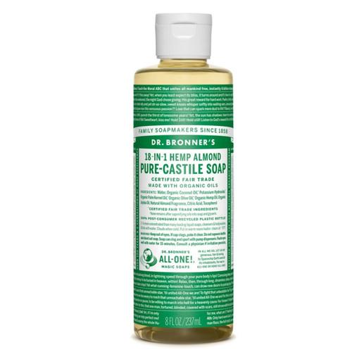 Dr Bronner's Organic Almond Liquid Soap - 237ml