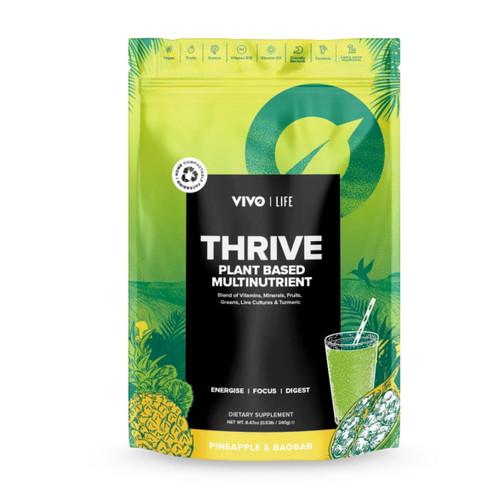 Vivo Life THRIVE Raw Green Superfood Pineapple Baobab - 240g