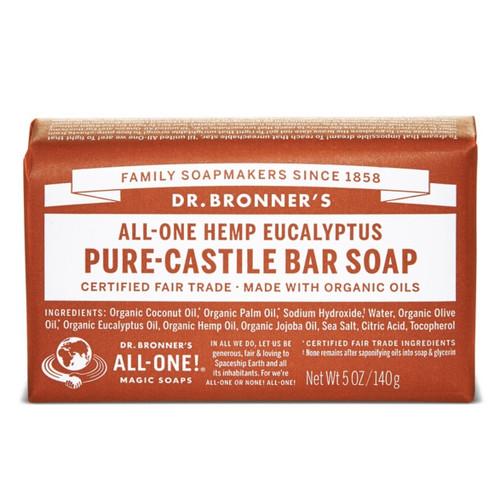Dr Bronner's Eucalyptus Organic Pure Soap Bar - 140g