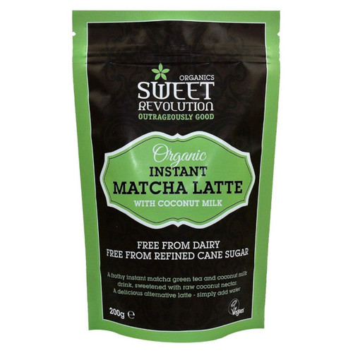 Sweet Revolution Organic Instant Matcha Latte with Vanilla - 200g