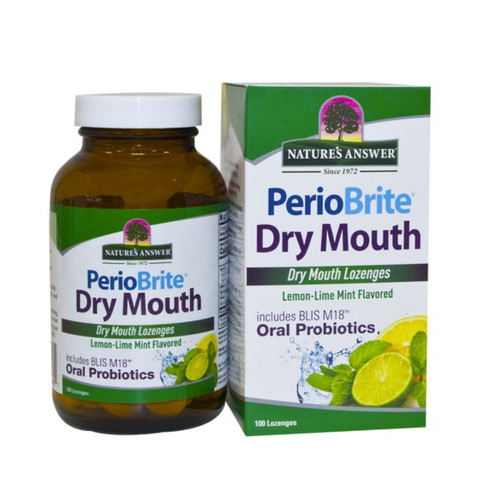 Nature's Answer Perio Brite Dry Mouth - 100 lozenges