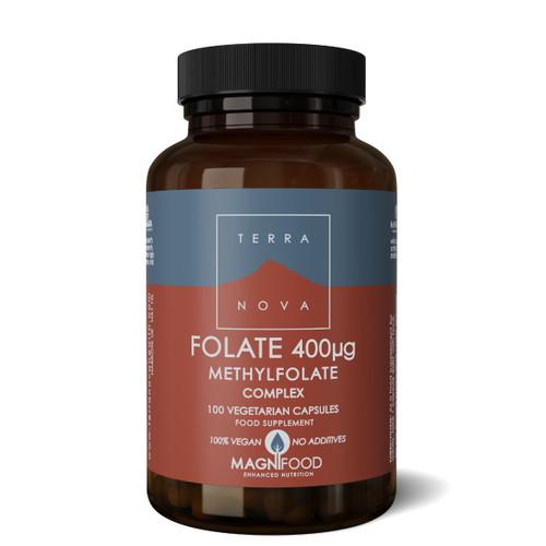 Terranova Folate (Methylfolate) 400ug Complex - 100 capsules