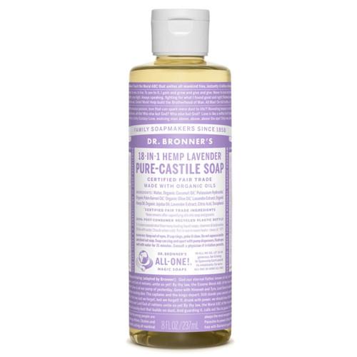 Dr Bronner's Organic Lavender Liquid Soap - 237ml