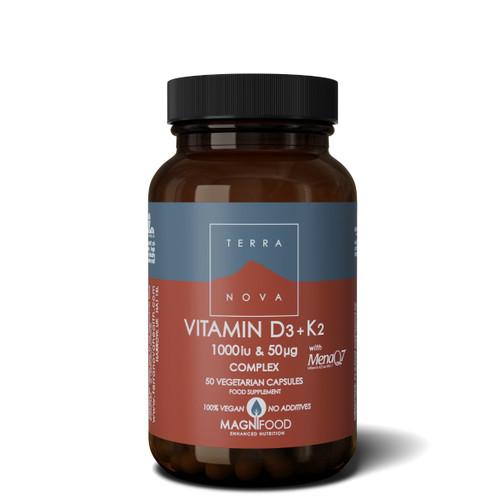 Terranova Vitamin D3 1000iu with Vitamin K2 50ug - 50 capsules