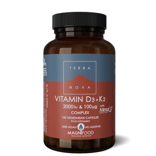 Terranova Vitamin D3 2000iu with Vitamin K2 100ug - 100 capsules