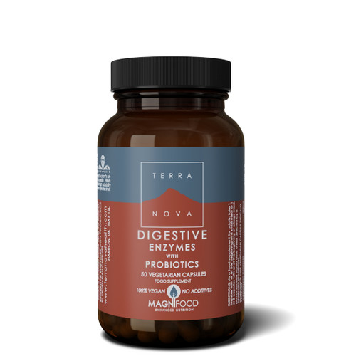 Terranova Digestive Enzymes with Probiotics - 50 capsules