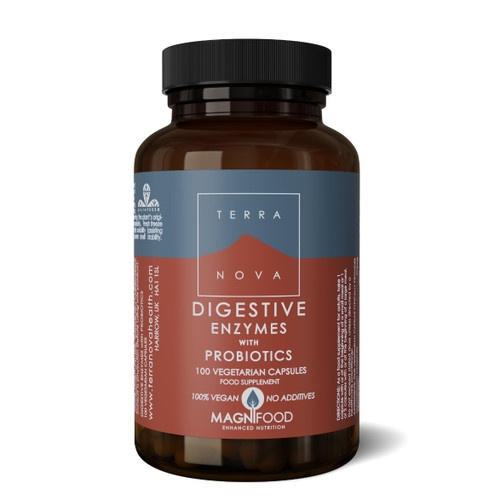 Terranova Digestive Enzymes with Probiotics - 100 capsules