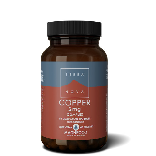 Terranova Copper 2mg Complex (Bisglycinate) - 50 capsules