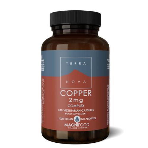Terranova Copper 2mg Complex (Bisglycinate) - 100 capsules