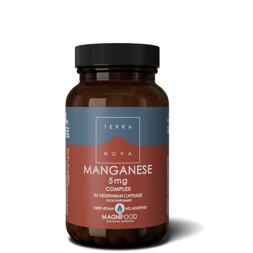 Terranova Manganese 5mg Complex (Bisglycinate) - 50 capsules