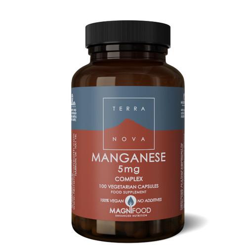 Terranova Manganese 5mg Complex (Bisglycinate) -100 capsules