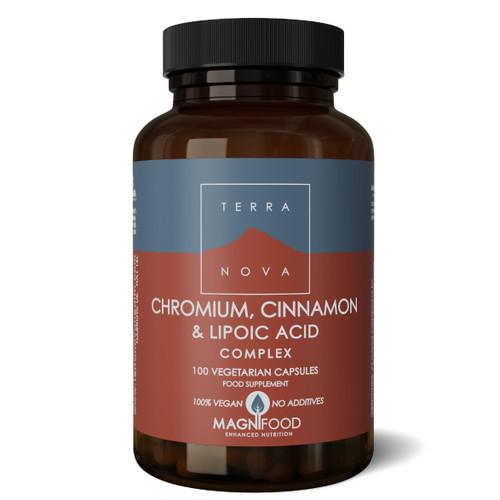 Terranova Chromium, Cinnamon & Lipoic Acid Complex - 100 capsules