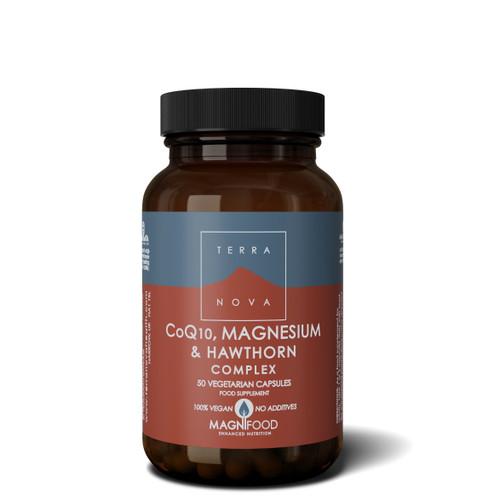 Terranova CoQ10, Magnesium & Hawthorne Complex - 50 capsules