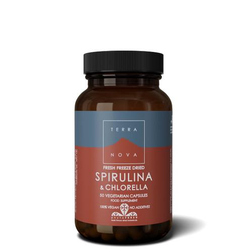 Terranova Spirulina & Chlorella - 50 capsules