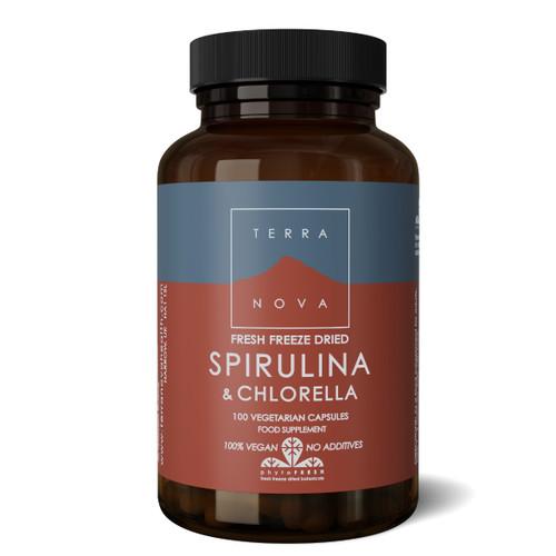 Terranova Spirulina & Chlorella - 100 capsules