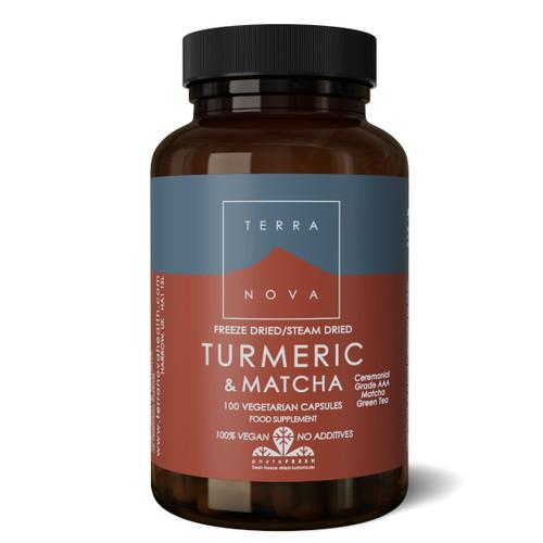 Terranova Turmeric & Matcha - 100 capsules