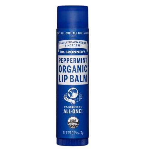 Dr Bronner's Organic Peppermint Lip Balm - 4g