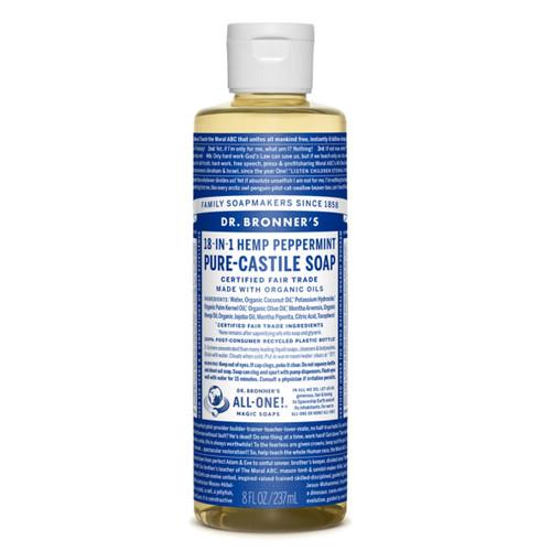 Dr Bronner's Organic Peppermint Liquid Soap - 237ml