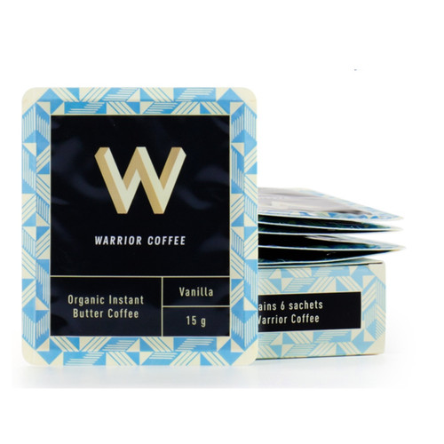 Warrior Coffee Butter Coffee Vanilla - 6 x 15g