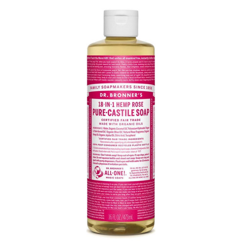 Dr Bronner's Organic Rose Liquid Soap - 473ml