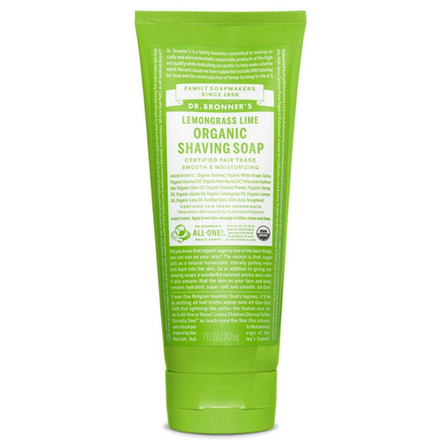 Dr Bronner's Organic Shaving Gel Lemongrass Lime -207ml