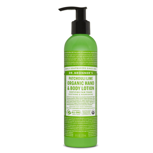 Dr Bronner's Patchouli Lime Hand & Body Lotion - 237ml