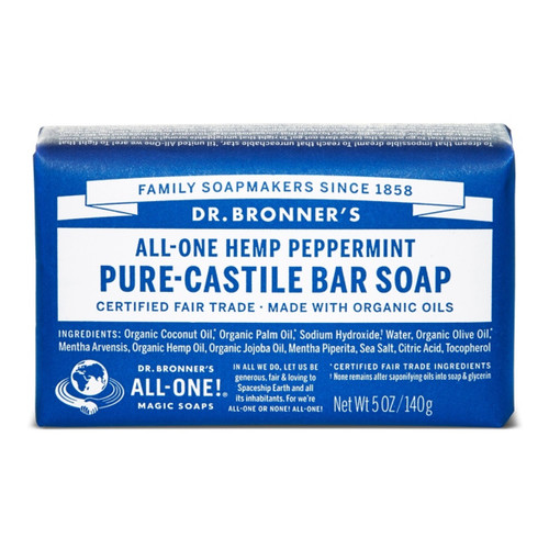 Dr Bronner's Peppermint Organic Soap Bar  - 140g