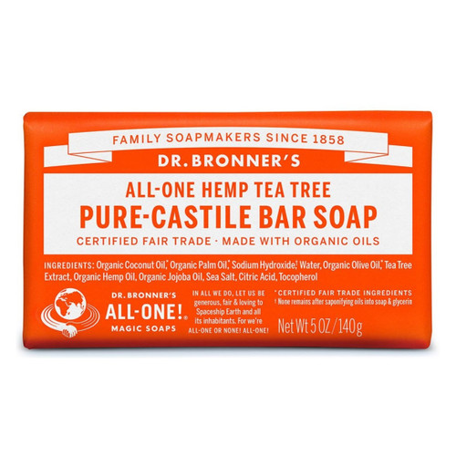 Dr Bronner's Tea Tree Organic Soap Bar - 140g