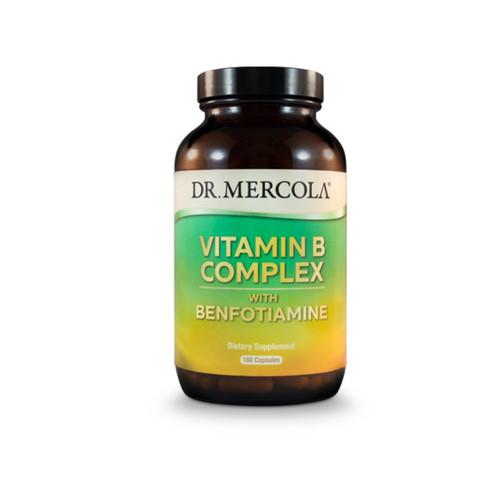 Dr Mercola Vitamin B Complex with Benfotiamine - 180 capsules