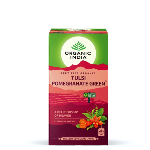 Organic India Tulsi Pomegranate Green Tea - 25 Teabags