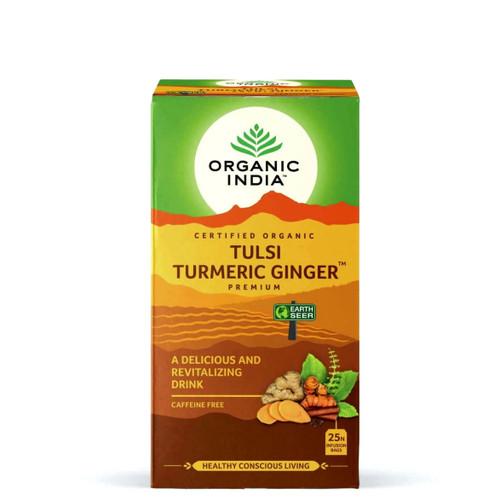 Organic India Tulsi Ginger Turmeric Tea - 25 Teabags