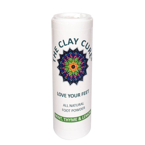 The Clay Cure Company Love Your Feet Powder (Mint, Thyme & Lemon) - 75g