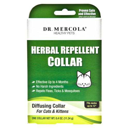 Dr Mercola Healthy Pets Herbal Repellent Collar -Cats & Kittens