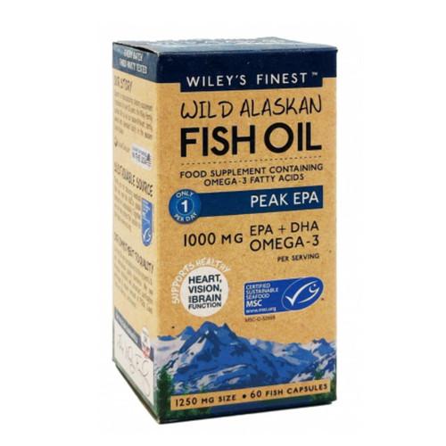 Wiley's Finest Wild Alaskan Fish Oil Peak EPA - 60 capsules